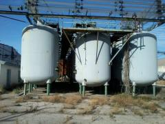 Sale of the capacities enameled on 20m.kub....
