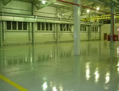 Bulk polymeric floors