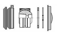 Сайлентблок V-образного рычага центральный MAN F9,