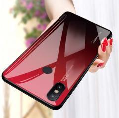 Стеклянный чехол градиент для Xiaomi Redmi Note 7