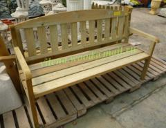The bench country wooden with a back, length is