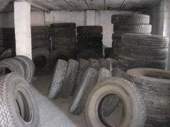 SECOND-HAND tires of car and specialist of