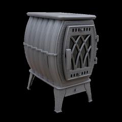 Чугунная печь-камин отопительно-варочная