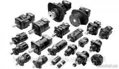 Hydraulic pump gear lamellar axial and piston