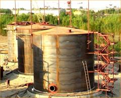 Tanks steel vertical of different function