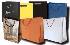 Продукция рекламно-сувенирная, Пакеты бумажные в