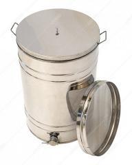Бак отстойник для меда с фильтром ,  150 л...