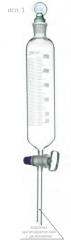 Воронка делительная цилиндрическая с делениями ВД-1, 1000 мл