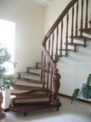 Лестницы деревянные, дубовые лестницы, лестницы