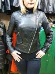 Кожаная женская куртка косуха 46