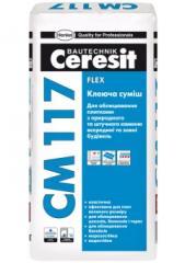 Клей для плитки  та  каменя Ceresit CM117/25кг