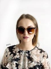Модные очки с коричневыми линзами и коричневой