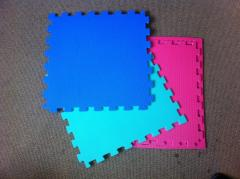 Coverings for playgrounds, halls, game rooms from