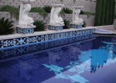 Мозаичные узоры для бассейна
