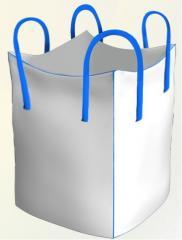 Sacchetti in polipropilene grande borsa chetyrehstropnyj con piccoli cucita brache. Prezzo dell'ordine