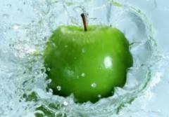 The apples frozen