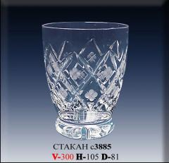 Glass s3885 crystal 300 g from the Belarusian