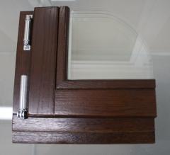 Windows wooden of a glued eurobar