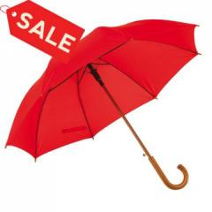 Зонт трость автомат красный