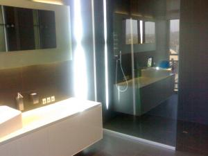 Glass, glass shower partitions under the order,