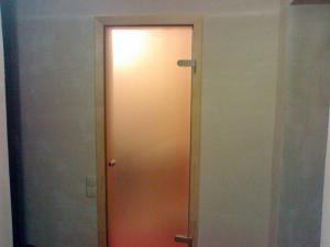 Doors for a bathroom, glass doors for a bathroom