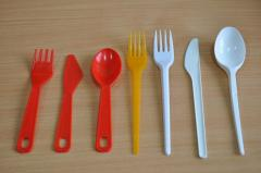 Compression molds for forks, spoons, knives,