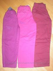 Утепленные котоновые брюки на девочку 98-128рр.