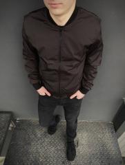 Бомбер Весенний мужской коричневый
