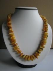 Beads from a natural stone