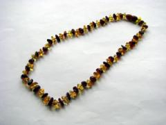 Beads for children from amber