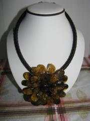 Exclusive beads of amber