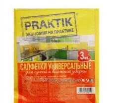 Салфетки вискозные для уборки ТМ Praktik