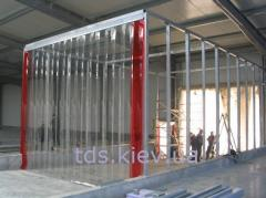 PVC of a veil or thermocurtain. Veils are