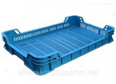 Ящик для ягод малины.  HDPE тип ОЗМ 600х400х100 мм