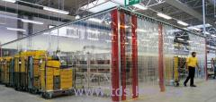 Partitions from transparent PVC