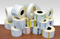 Self-adhesive labels, stickers, stickers from the