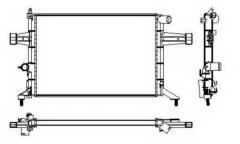 Радиатор охлаждения Опель Opel Astra G(98-09)