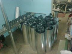 Труба оцинкована вентиляційна діаметр 315 мм, 1 м