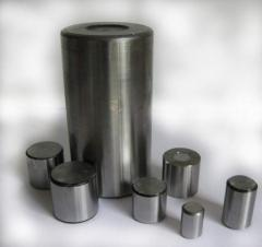 Rollers cylindrical on boring chisels from steel