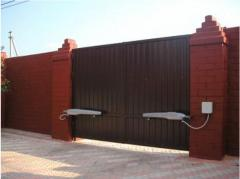 Gate are automatic sliding