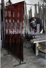 Screens for welding works. Shelters for conducting