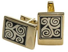 Cuff links are man's