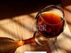 Materials for demetallization of brandy and