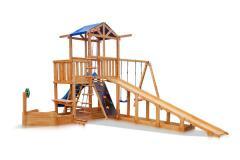 Детская площадка - Капитан с зимней горкой