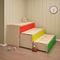Кровать детская 3-х ярусная выдвижная для садика.