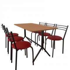 Комплект мебели для кафе: стол Скорпион + 6