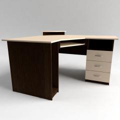 Стол компьютерный угловой с полкой под клавиатуру,