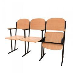 Фанерные секционные кресла для актового зала