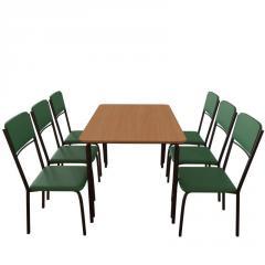 Обеденный комплект для кафе: стол Лира + 6 стульев