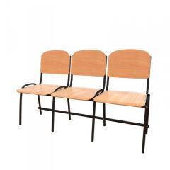 Антивандальные секционные стулья для актового зала